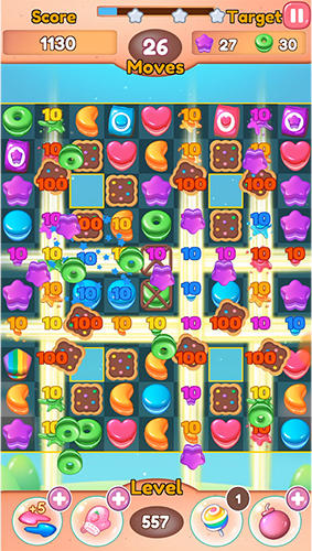 Fruit candy blast match 3: Sweet cookie mania para Android