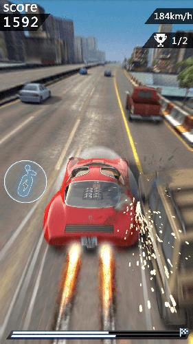 Chasing car speed drifting auf Deutsch