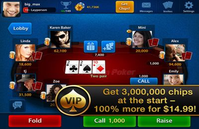 Glücksspiele: Lade Texas Poker Vip auf dein Handy herunter