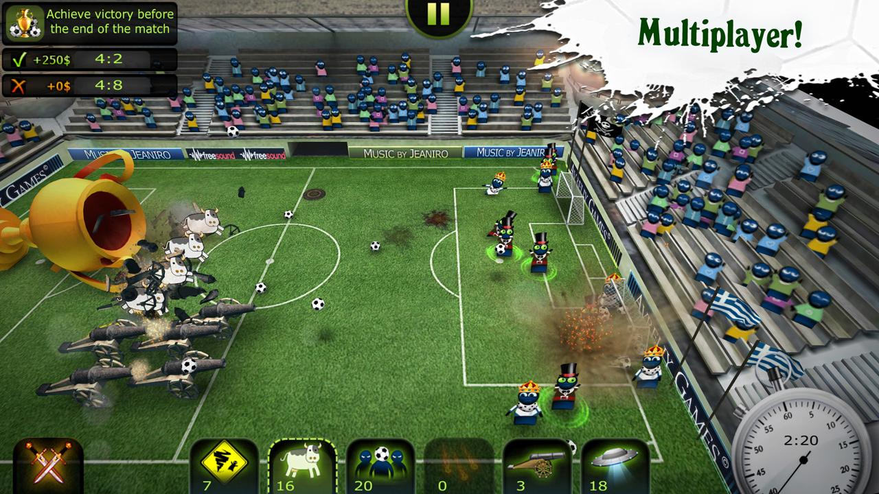 FootLOL: Crazy Soccer! Action Football game für Android