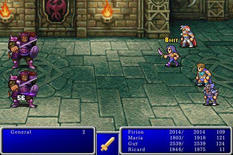 Screenshot Final Fantasy 2 auf dem iPhone