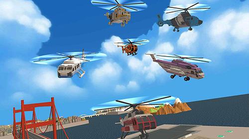 Arcade Blocky helicopter city heroes für das Smartphone