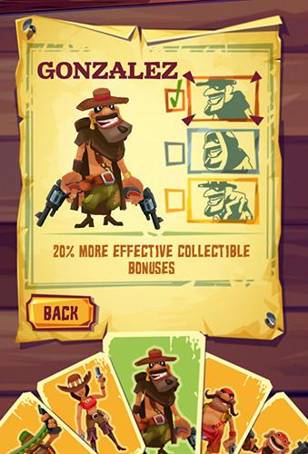 Arcade-Spiele Run and gun: Banditos für das Smartphone