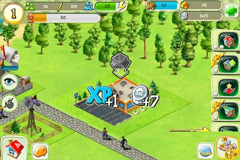 Screenshot Winzige Stadt auf dem iPhone