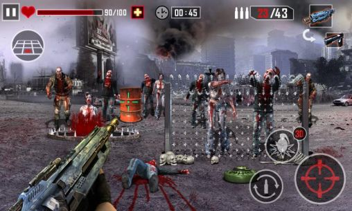 Fighting games Zombie killer for smartphone
