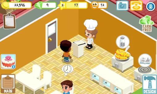 Simulator-Spiele Restaurant story: Summer camp für das Smartphone