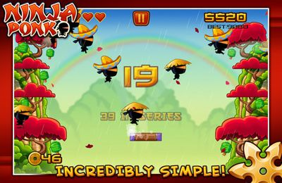 Screenshot Ninja Pong auf dem iPhone