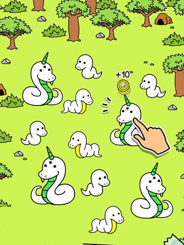 Snake evolution: Mutant serpent game auf Deutsch