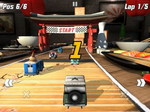 Rennspiele Table top racing für das Smartphone