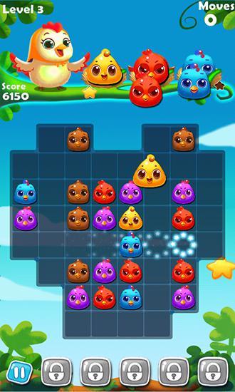 3 Gewinnt-Spiele Chicken splash 2 auf Deutsch