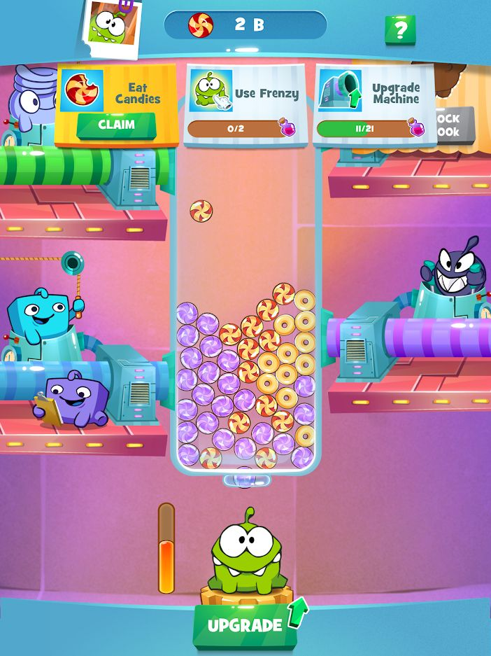 Om Nom Idle Candy Factory для Android