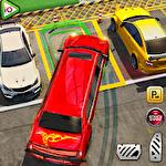 Limousine car driving real parking Symbol
