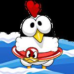 Ninja chicken: Beach Symbol