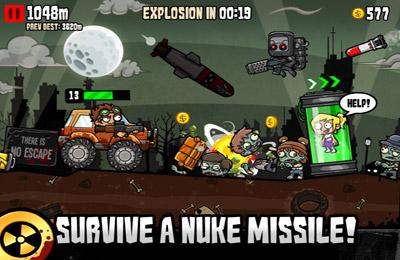 Screenshot Nuclear Outrun auf dem iPhone
