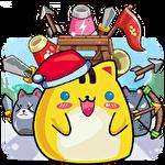 Cat'n'robot: Idle defense. Cute castle TD game Symbol