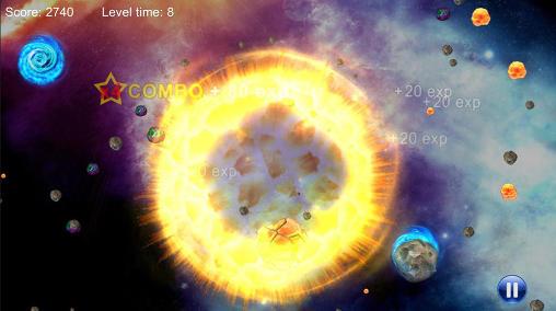 Arcade-Spiele Meteor guns für das Smartphone