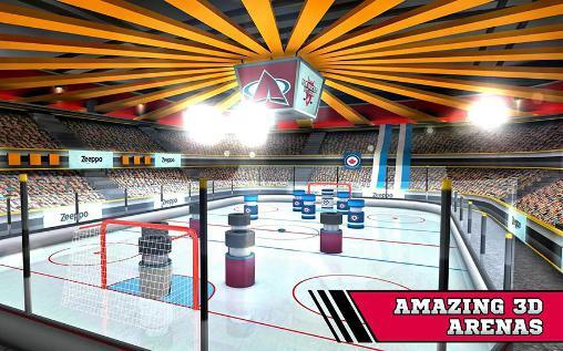 Pin hockey: Ice arena auf Deutsch