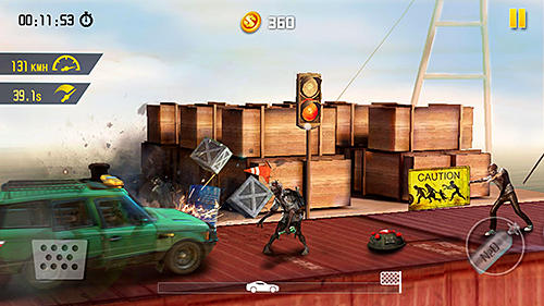 Zombie road escape: Smash all the zombies on road für Android