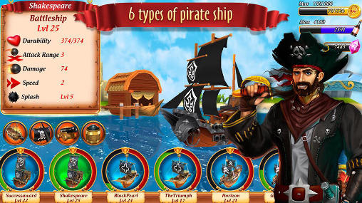 Pirate battles: Corsairs bay für Android
