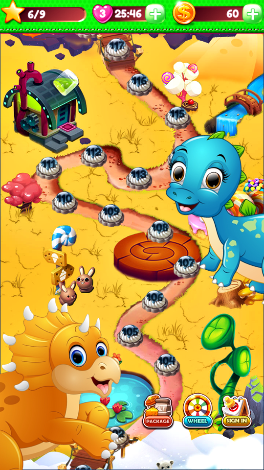 Dino Match3 Surprise World capture d'écran 1