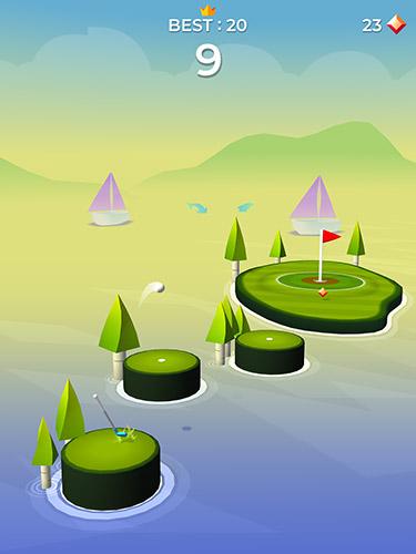 Zeitkiller Pop shot! Golf auf Deutsch