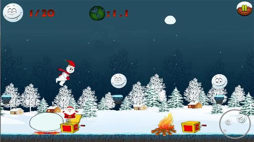 Snowman run Screenshot