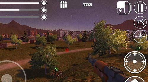 Actionspiele Apocalypse radiation island 3D für das Smartphone