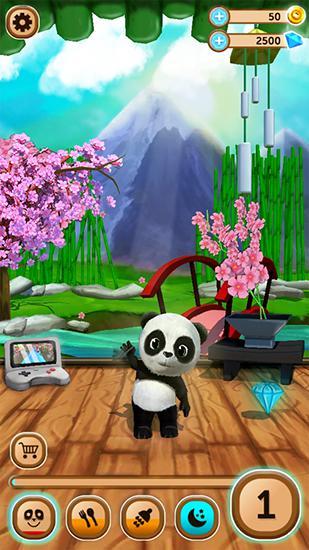 Simulation Daily panda: Virtual pet for smartphone