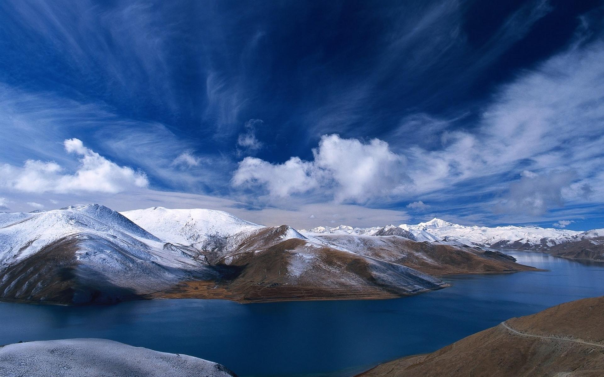 27284 Заставки и Обои Озера на телефон. Скачать Озера, Пейзаж, Горы, Облака картинки бесплатно