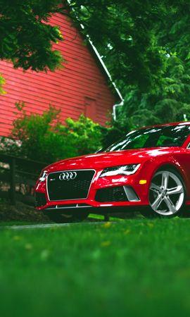 86693 Salvapantallas y fondos de pantalla Hierba en tu teléfono. Descarga imágenes de Coches, Audi, Rs7, Hierba, Vista Lateral, Perfil gratis