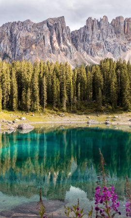 93157 скачать обои Природа, Озеро, Деревья, Горный Пейзаж, Италия, Горы, Пейзаж - заставки и картинки бесплатно