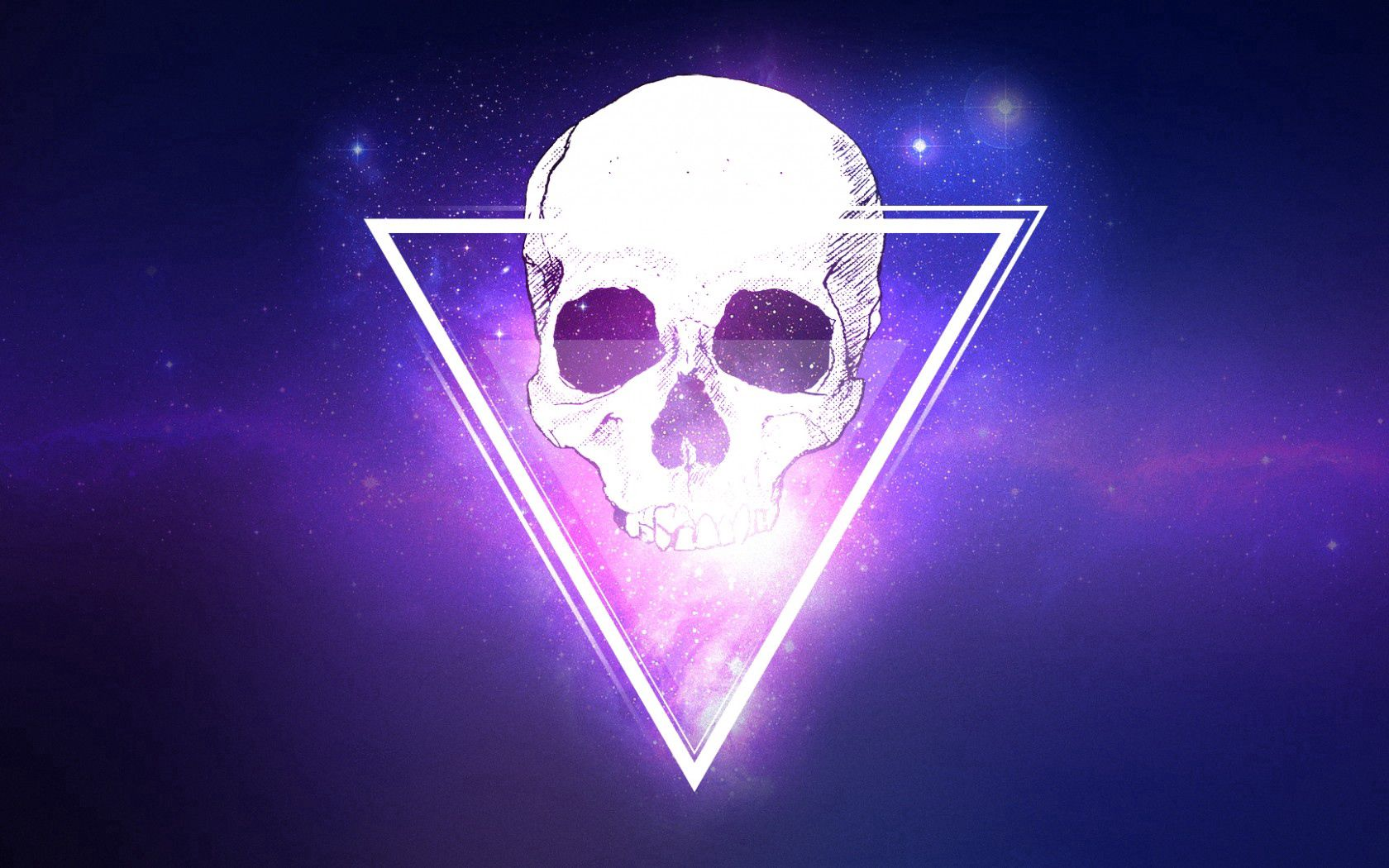 105109 download wallpaper Art, Universe, Skull, Triangle screensavers and pictures for free