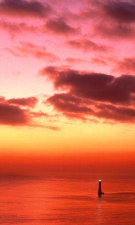 31262 скачать обои Пейзаж, Закат, Море, Маяки - заставки и картинки бесплатно