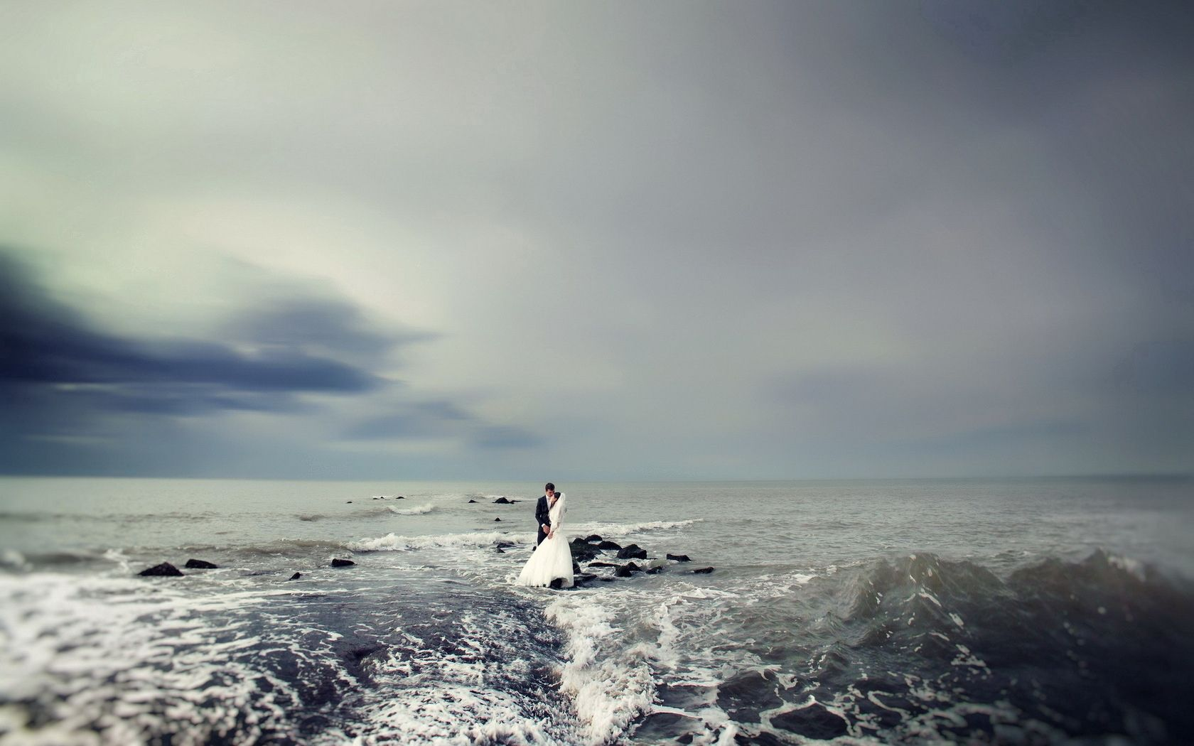 152726 скачать обои Свадьба, Море, Любовь, Настроение - заставки и картинки бесплатно