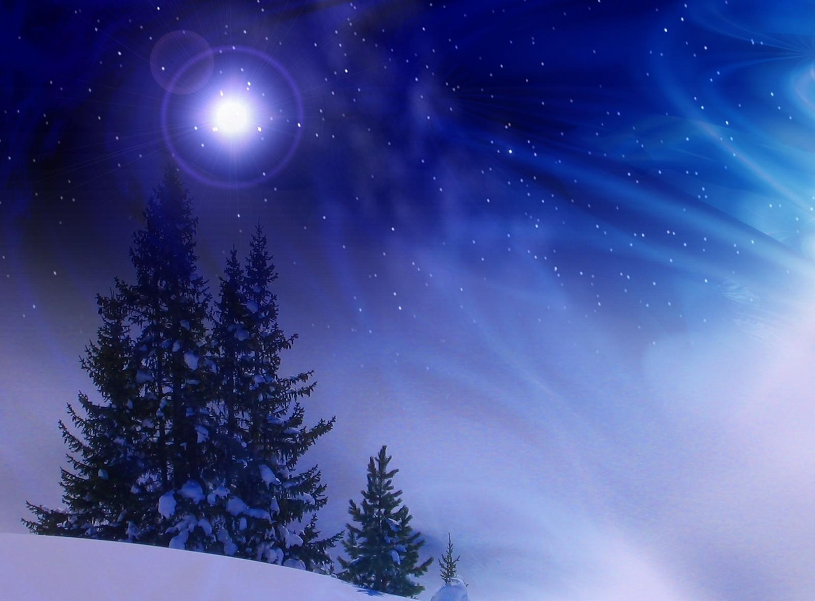 142390 скачать обои Праздники, Снег, Зима, Полночь, Метель, Елки - заставки и картинки бесплатно