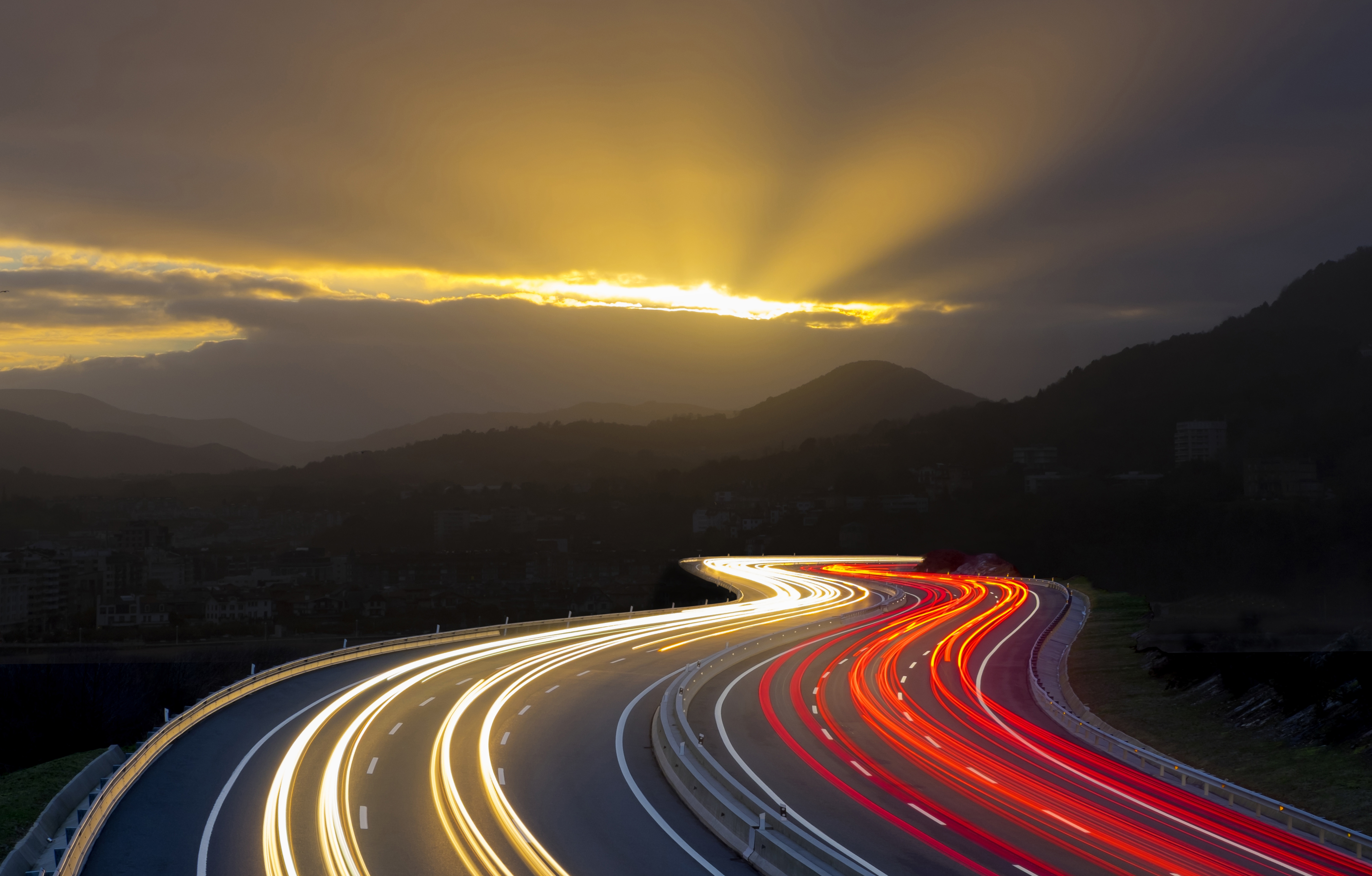 91825 Screensavers and Wallpapers Glow for phone. Download Cities, Mountains, Night, Road, Turn, Glow pictures for free