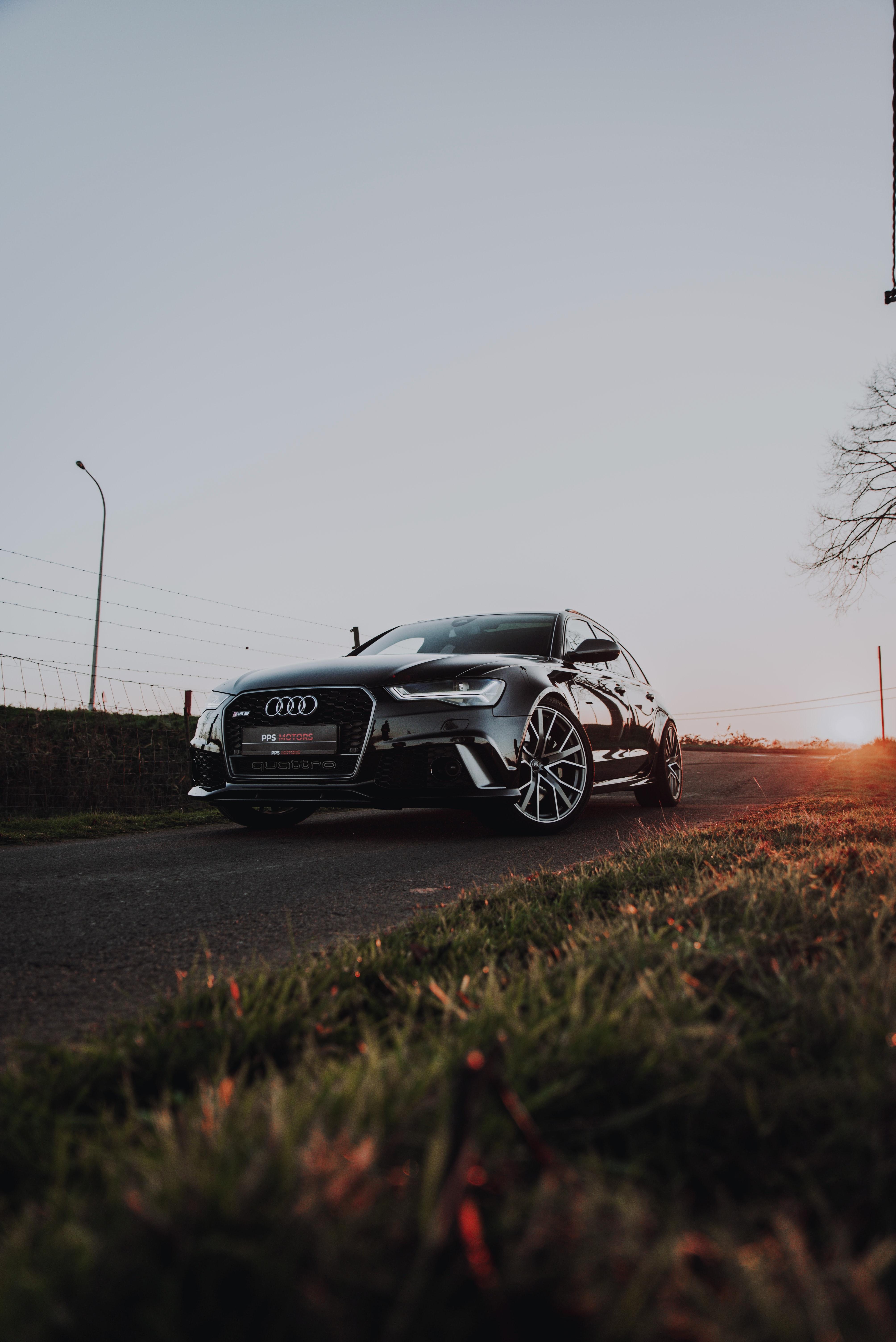 50555 скачать обои Ауди (Audi), Автомобиль, Audi Rs6, Тачки (Cars), Дорога, Черный - заставки и картинки бесплатно