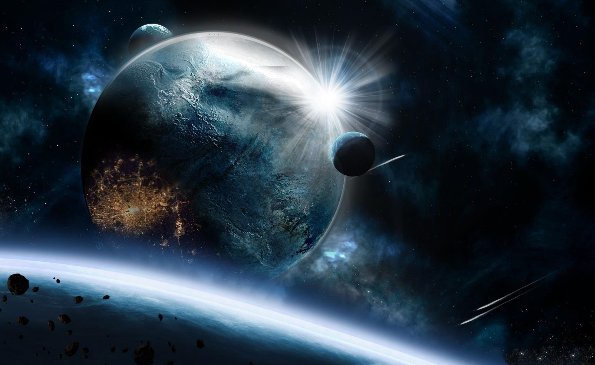 84837 скачать обои Космос, Планеты, Скорость, Взрыв, Удар, Астероиды - заставки и картинки бесплатно