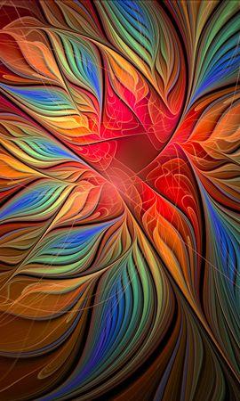 153894 télécharger le fond d'écran Abstrait, Fleur, La Forme, Forme, Multicolore, Hétéroclite - économiseurs d'écran et images gratuitement