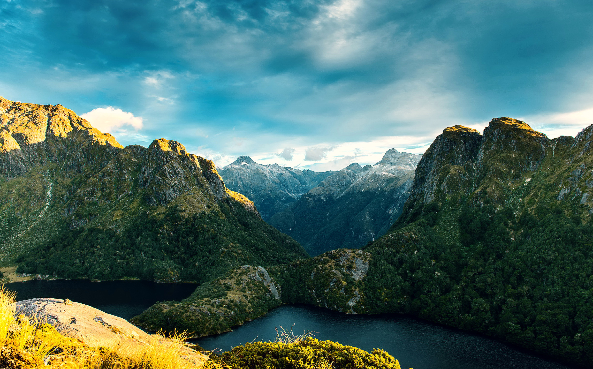 71372 Screensavers and Wallpapers New Zealand for phone. Download Nature, Mountains, Lake, New Zealand, Fjordland National Park pictures for free