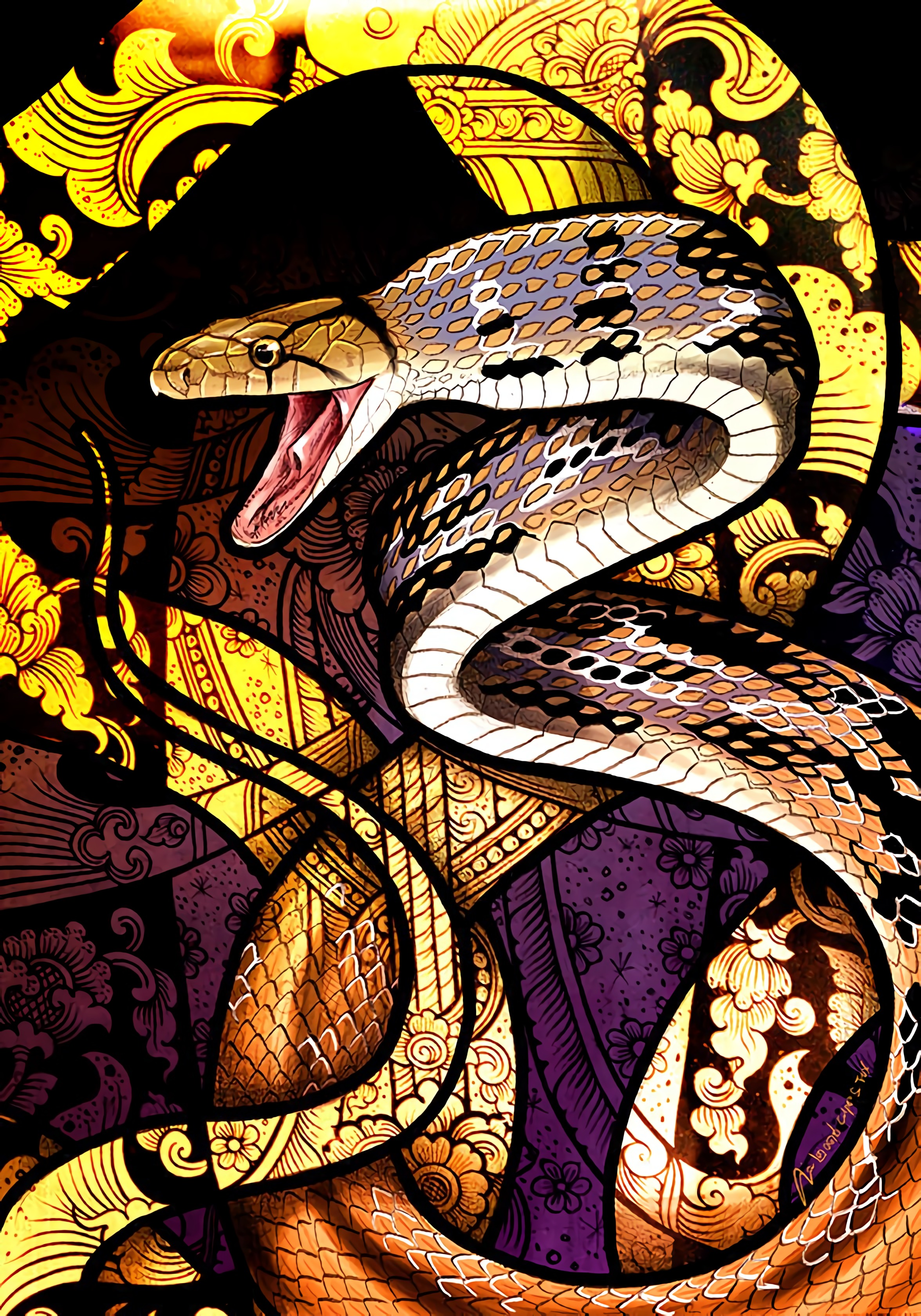 107041 Screensavers and Wallpapers Snake for phone. Download Art, Patterns, Snake, Scales, Scale pictures for free