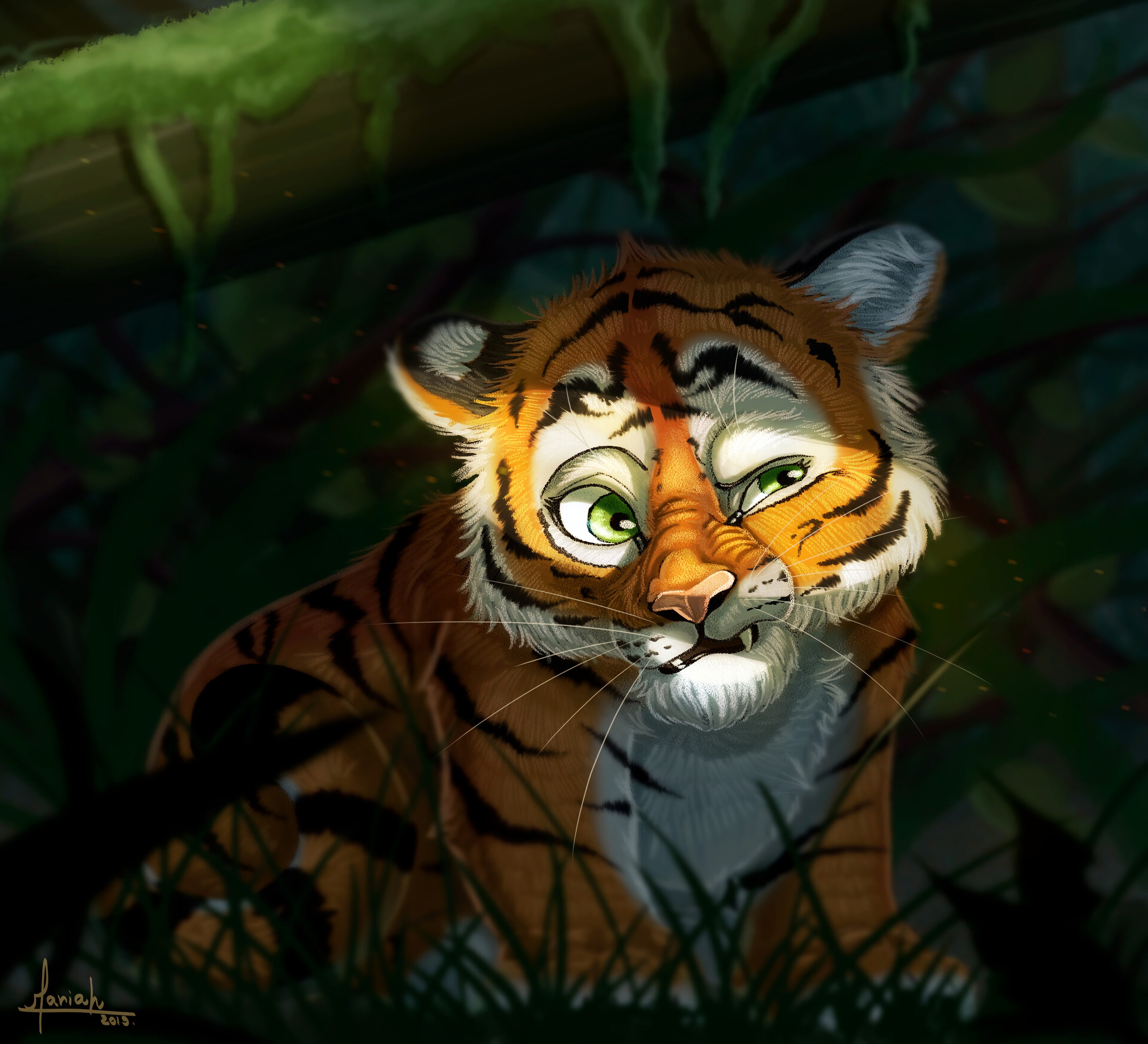 122313 Screensavers and Wallpapers Emotions for phone. Download Art, Tiger, Emotions, Tiger Cub pictures for free