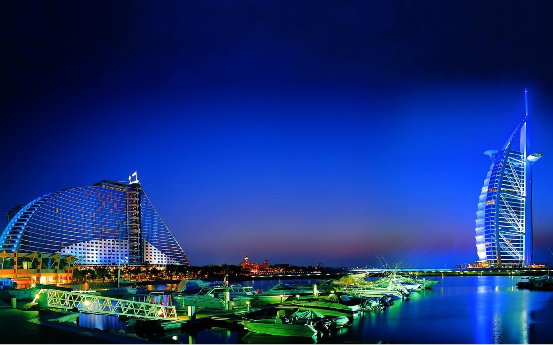 25000 скачать Синие обои на телефон бесплатно, Пейзаж, Города, Дома, Море, Ночь, Архитектура Синие картинки и заставки на мобильный