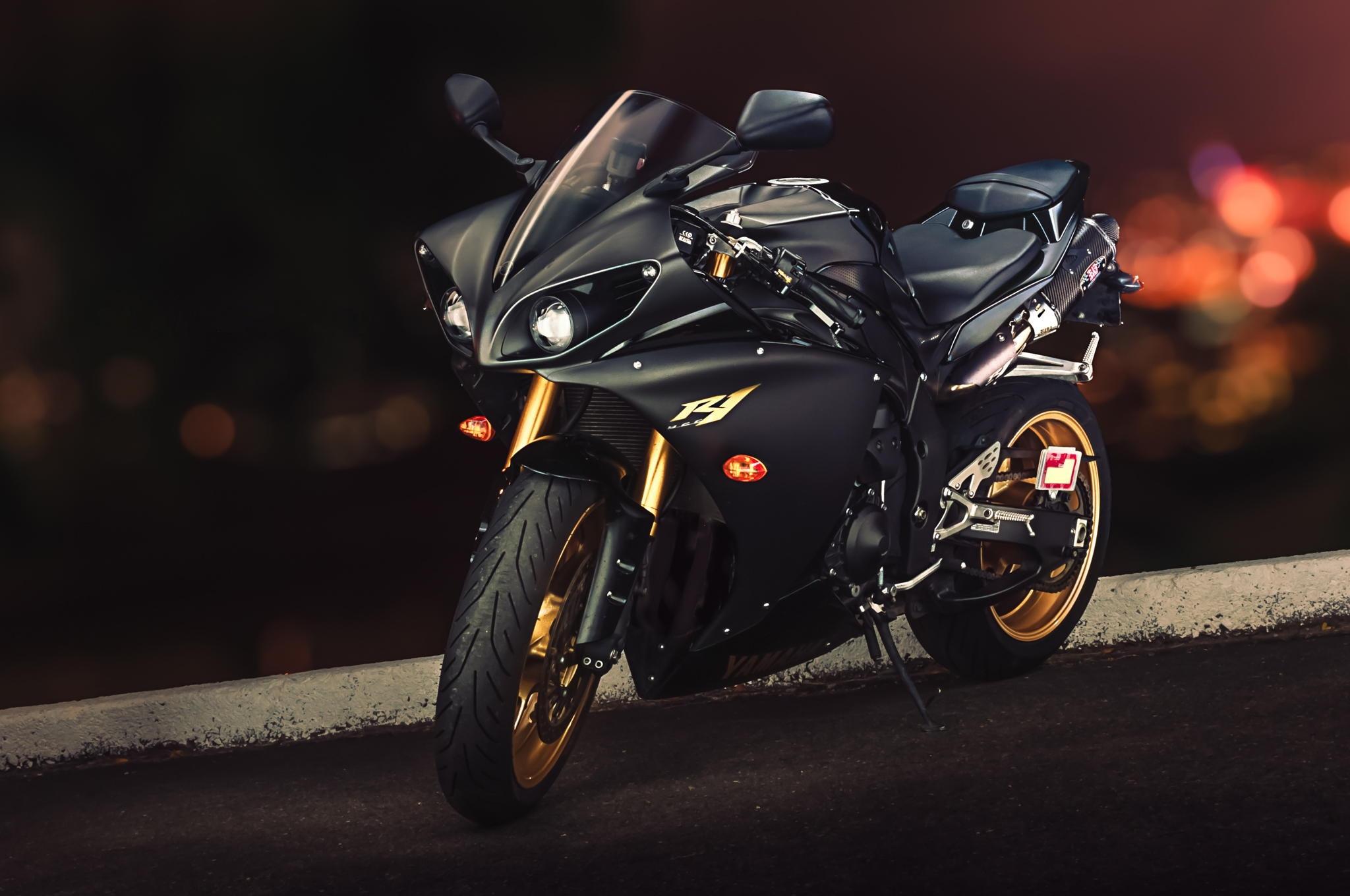 127462 Hintergrundbild herunterladen Motorräder, Yamaha, Sportfahrrad, Yzf-R1 - Bildschirmschoner und Bilder kostenlos