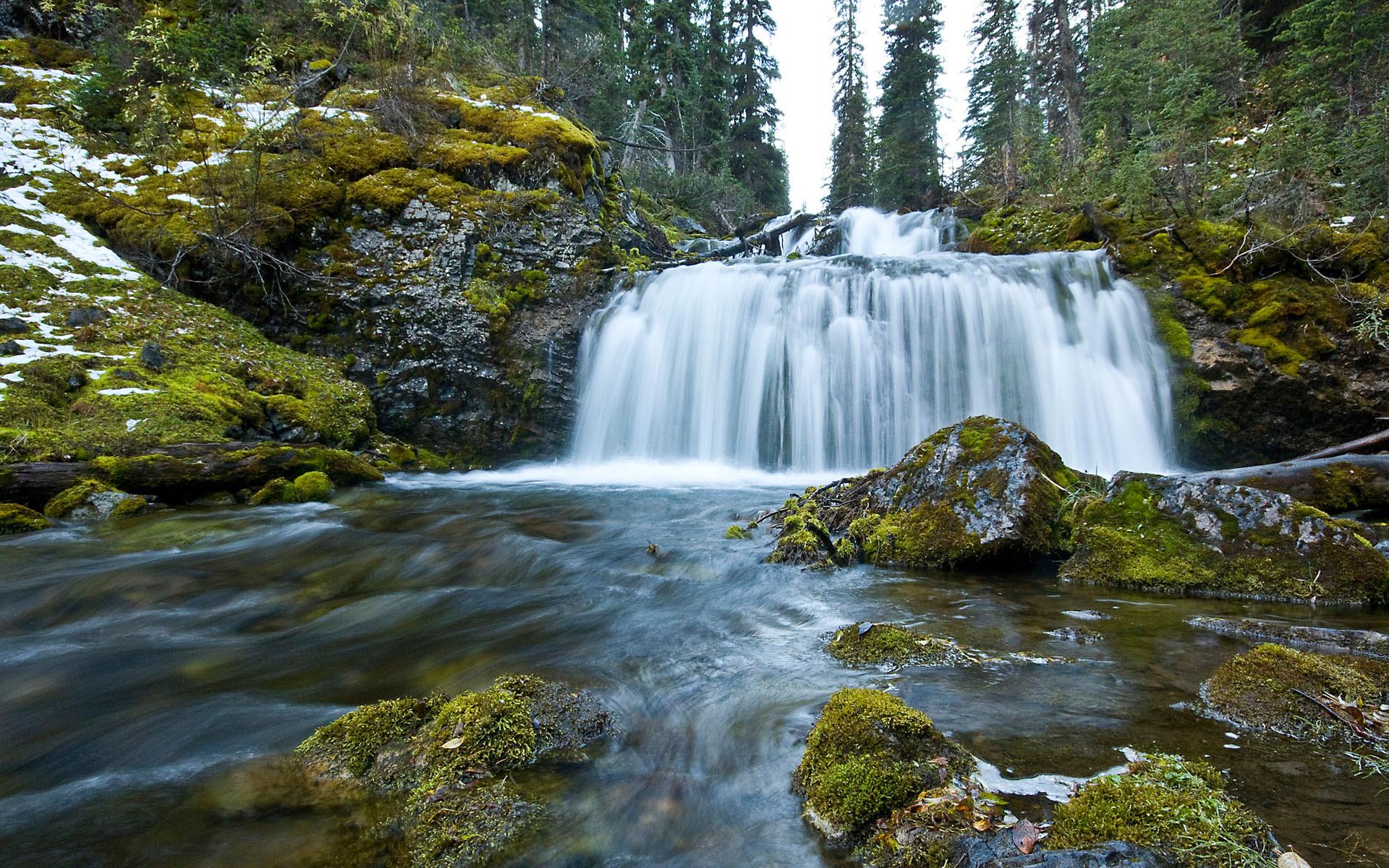49967 Hintergrundbild herunterladen Wasserfälle, Landschaft, Natur - Bildschirmschoner und Bilder kostenlos