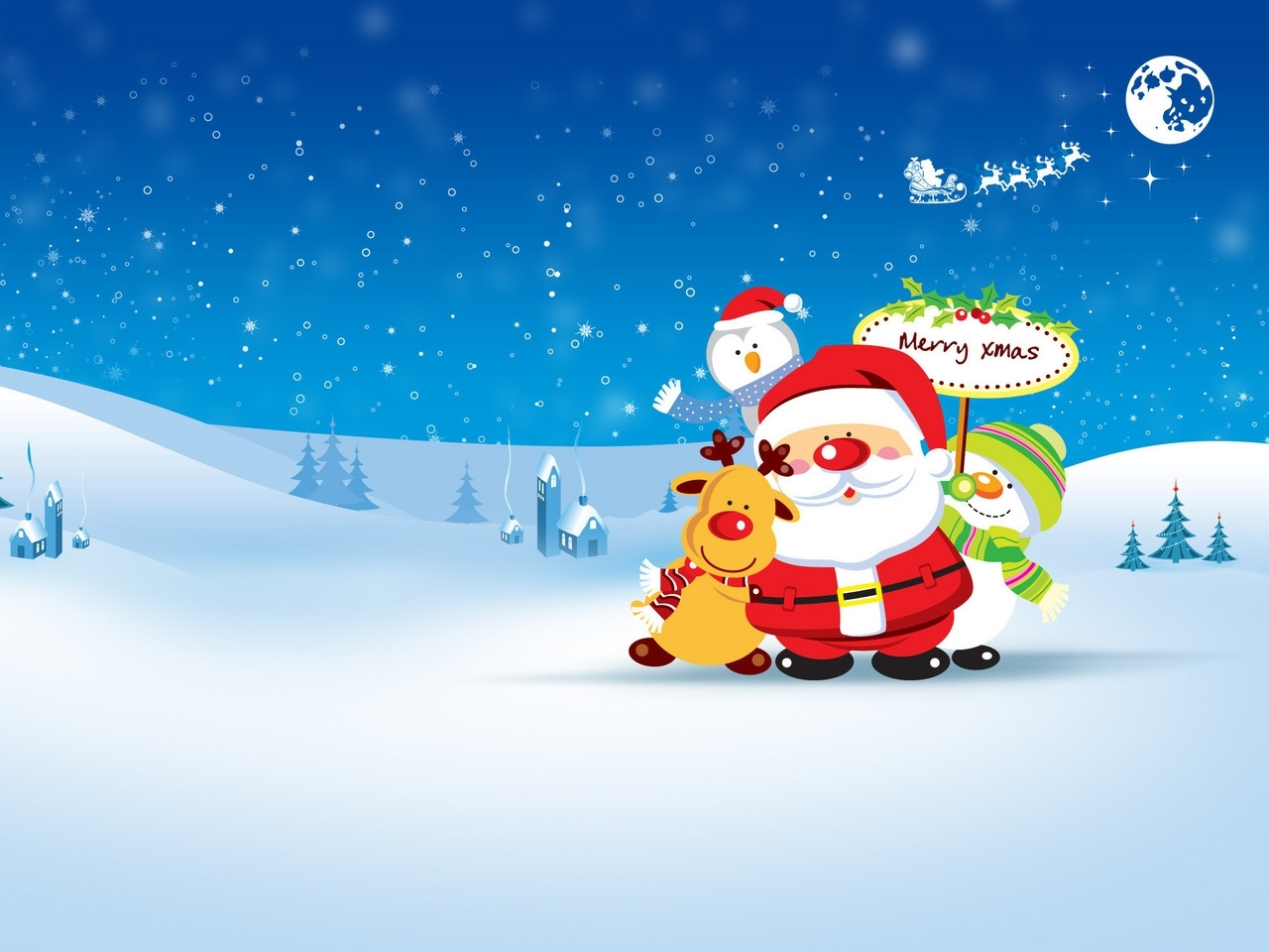23763 download wallpaper Holidays, Winter, Santa Claus, Snow, Christmas, Xmas, Pictures screensavers and pictures for free