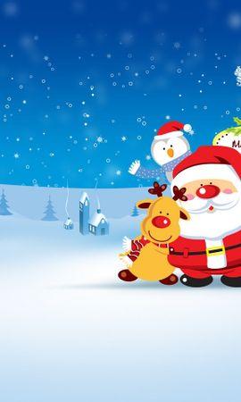 23763 descargar fondo de pantalla Vacaciones, Invierno, Papá Noel, Nieve, Navidad, Imágenes: protectores de pantalla e imágenes gratis