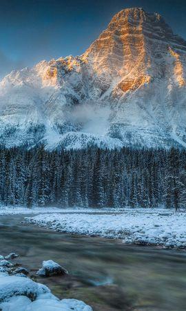 109873 baixar papel de parede Rios, Neve, Natureza, Montanhas - protetores de tela e imagens gratuitamente