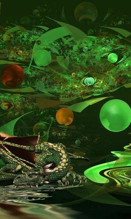 158001 télécharger le fond d'écran Abstrait, Le Dragon, Dragon, Contexte - économiseurs d'écran et images gratuitement
