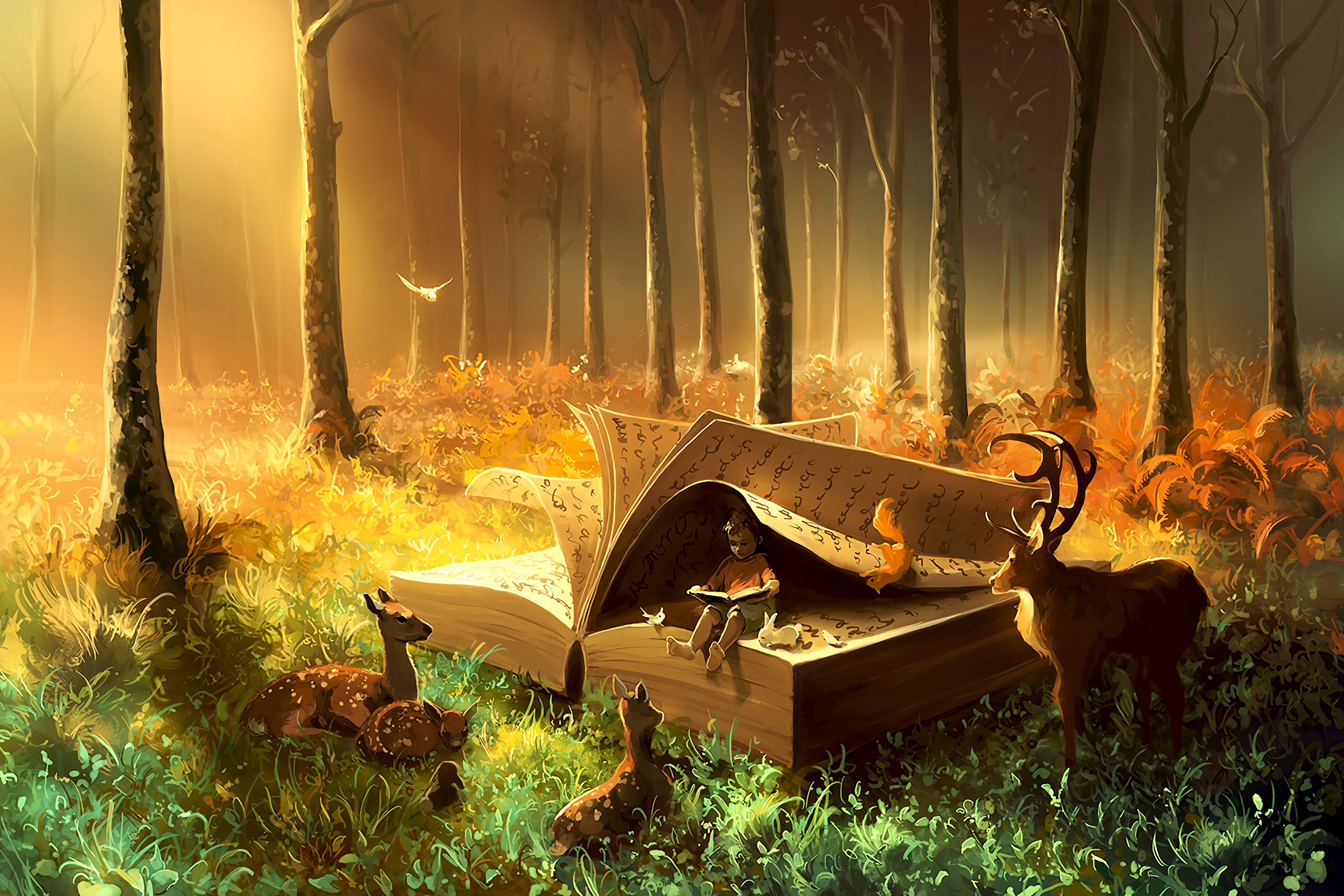 134128 Screensavers and Wallpapers Book for phone. Download Book, Art, Child, Fairy, Fabulous, Beasts pictures for free